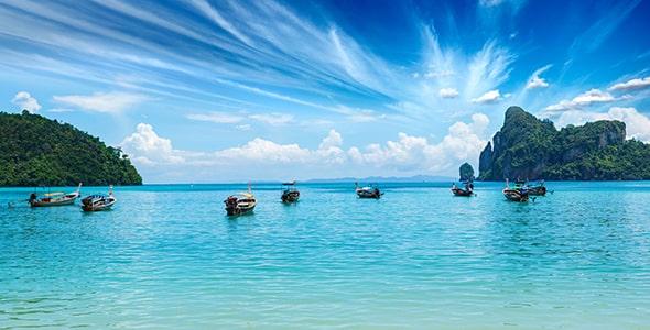 تصویر پانوراما دریا و جزیره فی فی تایلند