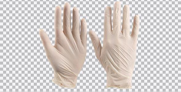 تصویر PNG دستکش طبی یکبار مصرف