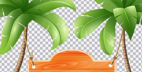 تصویر PNG ترنسپرنت درخت نخل