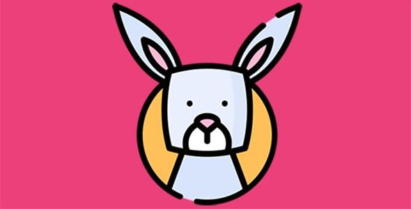 آیکون کارتونی خرگوش