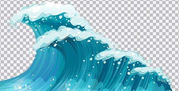 تصویر PNG ترنسپرنت امواج خروشان دریا