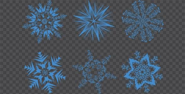 تصویر PNG ترنسپرنت مجموعه دانه برف