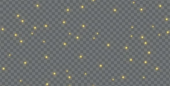 تصویر PNG مجموعه ستاره نورانی در شب