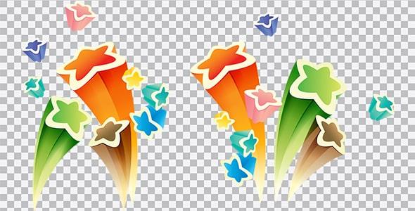 تصویر PNG مجموعه ستاره های رنگی