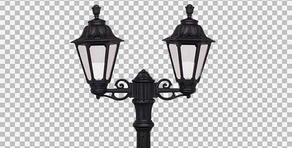 تصویر PNG چراغ خیابانی طرح فانوس
