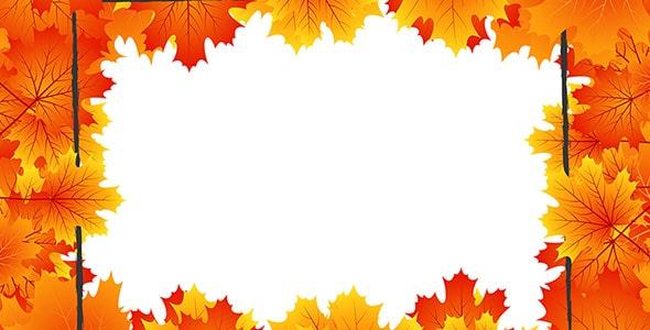 وکتور پس زمینه فصل پاییز و قاب برگ درخت