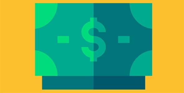 آیکون اسکناس دلار و پول