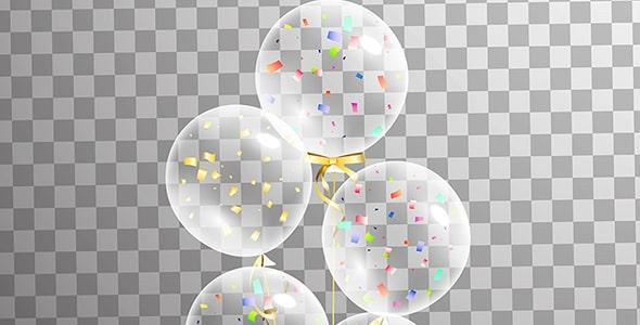 وکتور ترنسپرنت بادکنک جشن تولد
