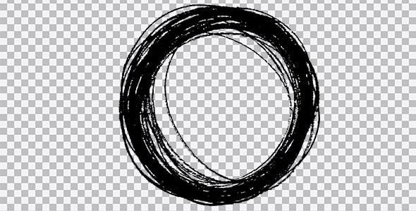 تصویر PNG براش دایره خط خطی