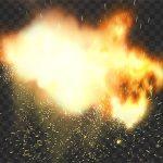 تصویر PNG جرقه و آتش