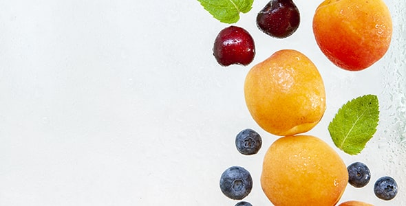 تصویر پس زمینه مجموعه میوه تازه