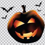تصویر PNG استیکر کدو هالووین و خفاش
