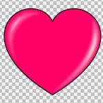 تصویر PNG قلب صورتی براق