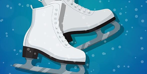 وکتور بنر فارسی اسکیت روی یخ