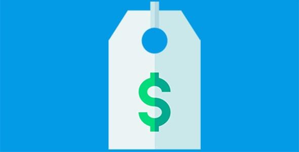 آیکون برچسب قیمت و دلار