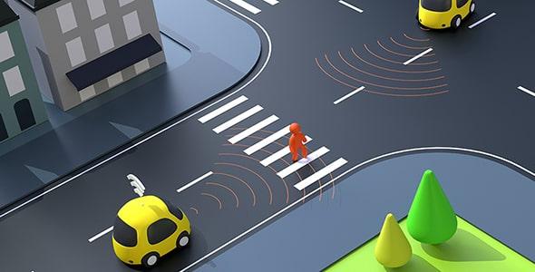 تصویر مفهوم اتومبیل خودران و بدون سرنشین