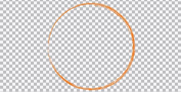 تصویر PNG ترنسپرنت براش دایره نارنجی