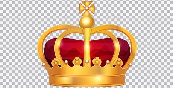 تصویر PNG تصویر سازی تاج پادشاهی