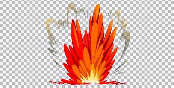 تصویر PNG تصویرسازی انفجار و بمب