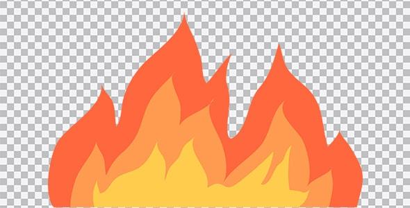 تصویر PNG تصویر سازی شعله آتش