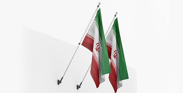 فایل لایه باز موکاپ سه بعدی پرچم ایران