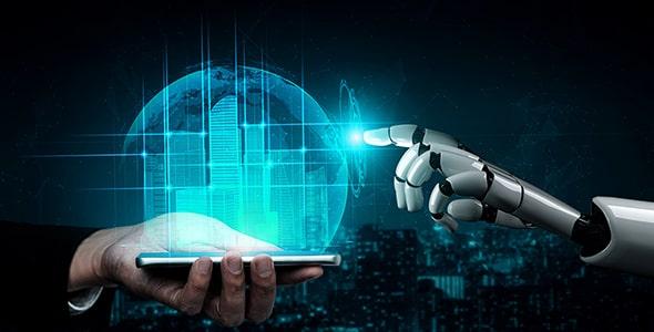 تصویر با مفهوم هوش مصنوعی و آینده
