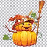 تصویر PNG کاراکتر کدو هالووین