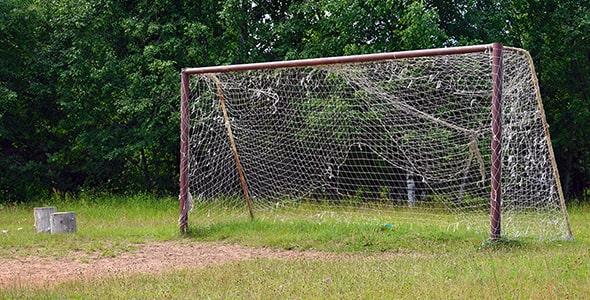 تصویر پس زمینه دروازه قدیمی فوتبال