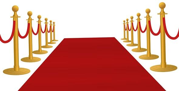وکتور رویداد رد کارپت یا فرش قرمز