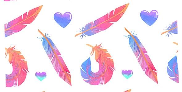 وکتور پترن مجموعه پر رنگی و قلب
