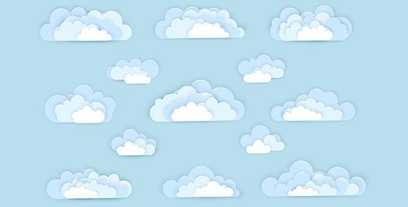 وکتور طراحی فلت مجموعه ابر کاغذی