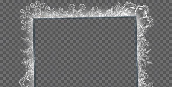تصویر PNG قاب و فریم طرح یخ