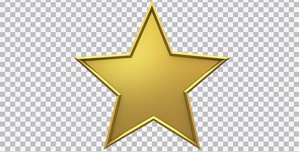 تصویر PNG سه بعدی ستاره طلایی