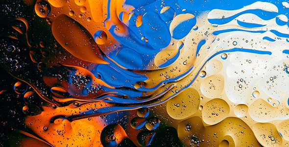تصویر تکسچر قطرات روغن و آب