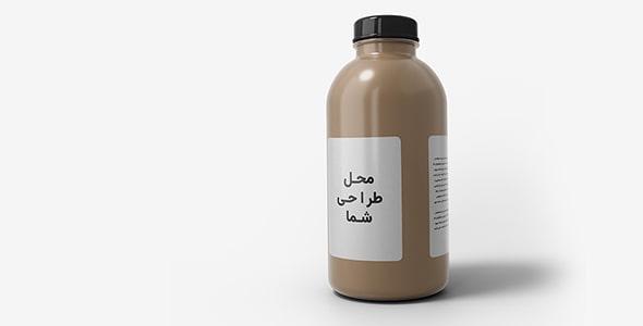 فایل لایه باز موکاپ فارسی بطری شربت و دارو