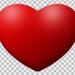 تصویر PNG قلب قرمز ولنتاین