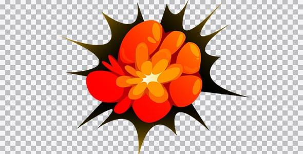 تصویر PNG انفجار بزرگ و بمب
