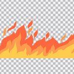 تصویر PNG تصویر سازی شعله آتش بزرگ