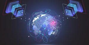 وکتور شبکه جهانی و اینترنت با مفهوم فناوری