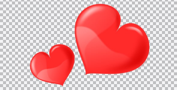 تصویر PNG ترنسپرنت دو قلب کنار هم