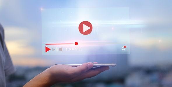 تصویر دست انسان با مفهوم پخش آنلاین ویدیو