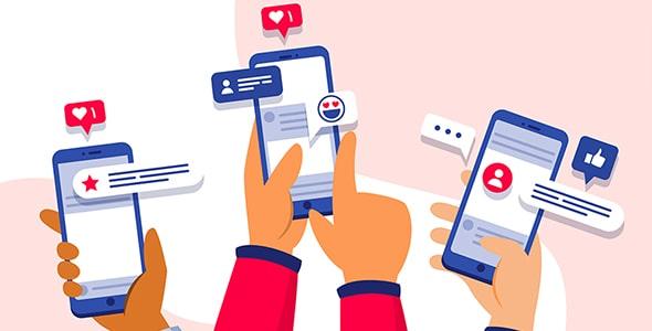 وکتور با مفهوم بازاریابی در شبکه اجتماعی