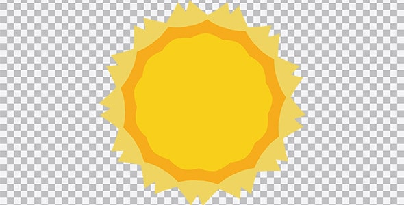 تصویر PNG ترنسپرنت آیکون خورشید