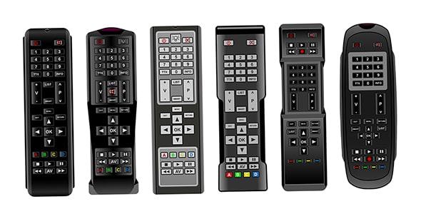 وکتور مجموعه ریموت کنترل تلویزیون