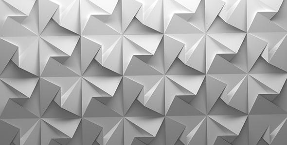 تصویر انتزاعی مجموعه شکل هندسی چین خورده